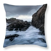 Long Exposure At The Water Throw Pillow
