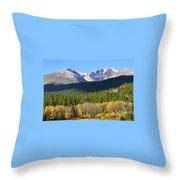 Longs Peak In The Fall Throw Pillow