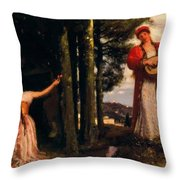 Look Any Laughs To The Plains Throw Pillow