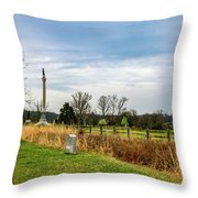 Looking Down The Union Line Throw Pillow
