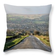 Looking Down Yorkgate Throw Pillow
