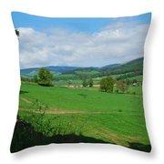looking westwards in Tweed valley Throw Pillow