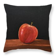 Lopsided Apple Throw Pillow