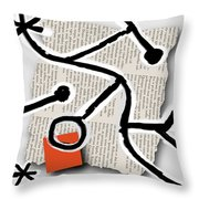 Lorem Ipsum 1 Throw Pillow by Mark Shoolery