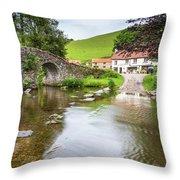 Lorna Doone Farm Throw Pillow