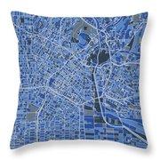 Los Angeles Map Retro 5 Throw Pillow