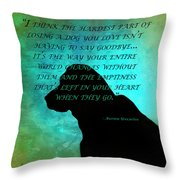 Losing A Dog Throw Pillow
