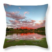 Lost Lake Sunset Throw Pillow