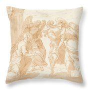 Lot Y Los Tres Angeles  Throw Pillow