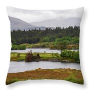 Lough Cloonee  Throw Pillow