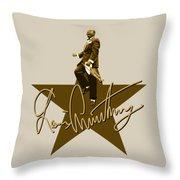 Louis Armstrong - Signature Throw Pillow