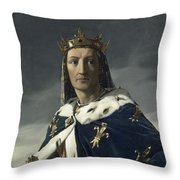 Louis Viii, King Of France Throw Pillow