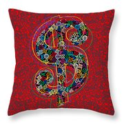 Louis Vuitton Dollar Sign-7 Throw Pillow