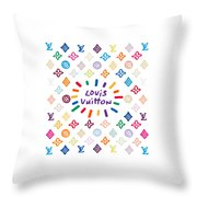 Louis Vuitton Monogram-10 Throw Pillow