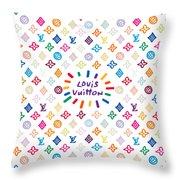 Louis Vuitton Monogram-12 Throw Pillow