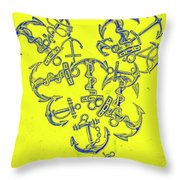 Love At Every Port Throw Pillow
