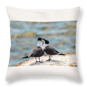 Love Birds Throw Pillow by Dheeraj Mutha