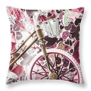 Love Courier Throw Pillow