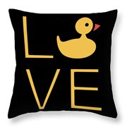 Love Ducks Super Cute And Very Fun Love Gift Idea Design Throw Pillow