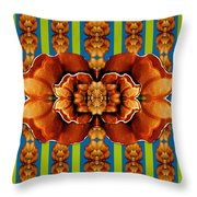 Love For The Fantasy Flowers With Happy Joy Throw Pillow