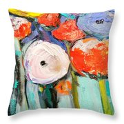 Love Of Poppies Throw Pillow