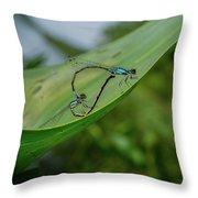 Love On A Leaf Throw Pillow