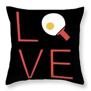 Love Ping Pong Super Cute And Fun Love Gift Idea Throw Pillow