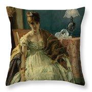 Lovelorn, 19th Century Throw Pillow