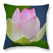 Lovely Soft Lotus Throw Pillow