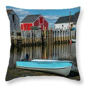 Low Tide At Blue Rocks 02 Throw Pillow