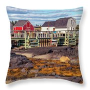 Low Tide At Blue Rocks 05 Throw Pillow