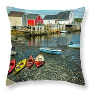 Low Tide At Blue Rocks 01 Throw Pillow