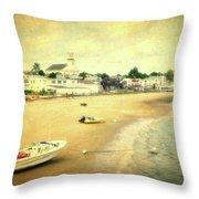 Low Tide Provincetown Cape Cod Massachusetts Shoreline Textured Throw Pillow