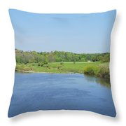 lower river Tweed near Horncliffe Throw Pillow