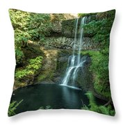 Lower South Falls Throw Pillow
