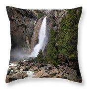 Lower Yosemite Fall Throw Pillow
