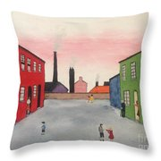 Lowry In Japanese Bloom Throw Pillow