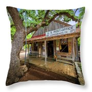 Luckenbach Town Throw Pillow