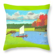 Testing The Waters Throw Pillow by John Wiegand