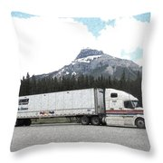 Lunch Break In Alberta Throw Pillow