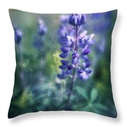 Lupine Blues Throw Pillow