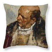 M Nnlicher Charakterkopf Throw Pillow