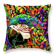 Macaw High I Throw Pillow