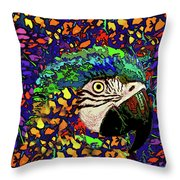 Macaw High II Throw Pillow