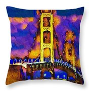 Mackinac At Dusk Throw Pillow