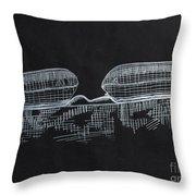 Macular Hole Oct Throw Pillow