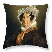 Madame Henri Francois Riesener  Felicite Longrois        Throw Pillow