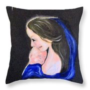Madonna And Child Throw Pillow by Clyde J Kell