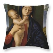 Madonna With The Child  Throw Pillow