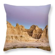 magenta Dawn in the Badlands  Throw Pillow